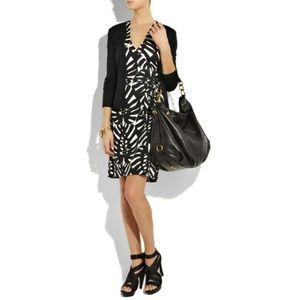 Tory Burch Ivette Silk Jersey Leaf Wrap Dress S